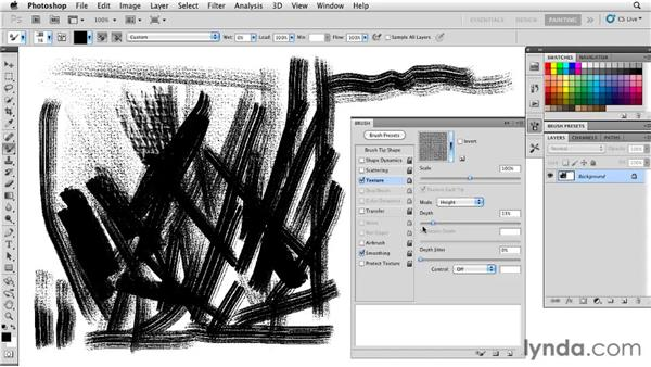 Simulating canvas texture: Photoshop CS5: Painting with the Mixer Brush