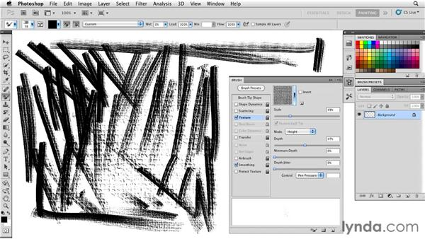 Setting texture scale: Photoshop CS5: Painting with the Mixer Brush