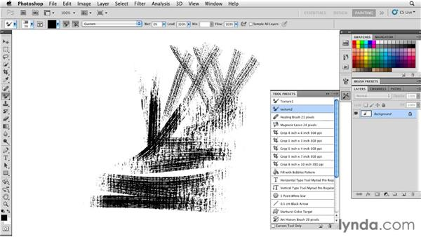 Locking textures: Photoshop CS5: Painting with the Mixer Brush