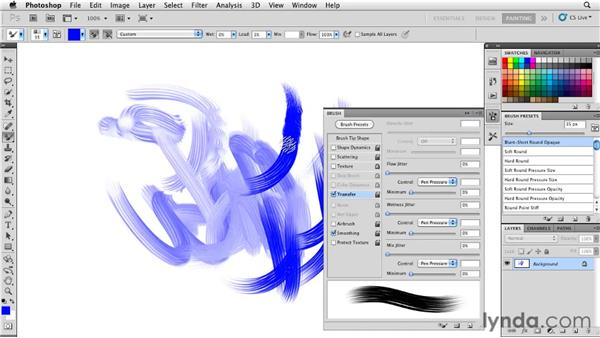 Understanding tool presets and brush presets: Photoshop CS5: Painting with the Mixer Brush