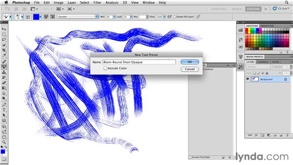 Saving tool presets: Photoshop CS5: Painting with the Mixer Brush