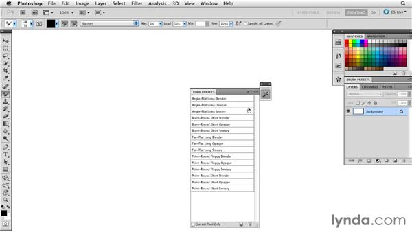 Organizing the Tool Presets panel: Photoshop CS5: Painting with the Mixer Brush