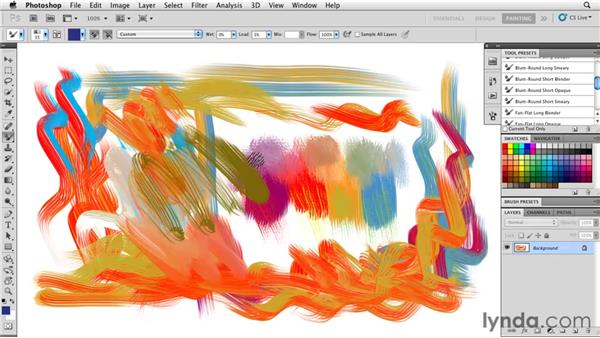 Using the Color Picker Heads-Up Display: Photoshop CS5: Painting with the Mixer Brush