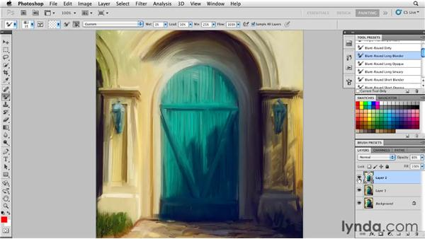 Restoring detail: Photoshop CS5: Painting with the Mixer Brush