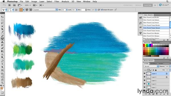 Adding detail to a painting: Photoshop CS5: Painting with the Mixer Brush