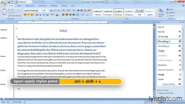 Basing one style upon another: Word 2007: Styles in Depth