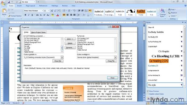 Deleting unneeded styles and Quick Style sets: Word 2007: Styles in Depth