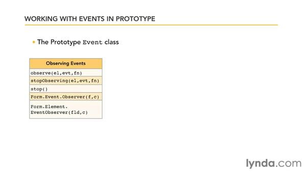 Understanding the Prototype event class: Prototype and script.aculo.us Essential Training