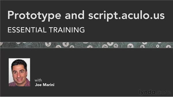 Goodbye: Prototype and script.aculo.us Essential Training