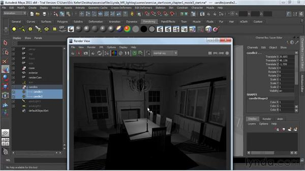: Lighting and Rendering with mental ray in Maya