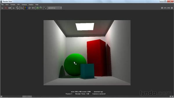 Indirect lighting: Lighting and Rendering with mental ray in Maya