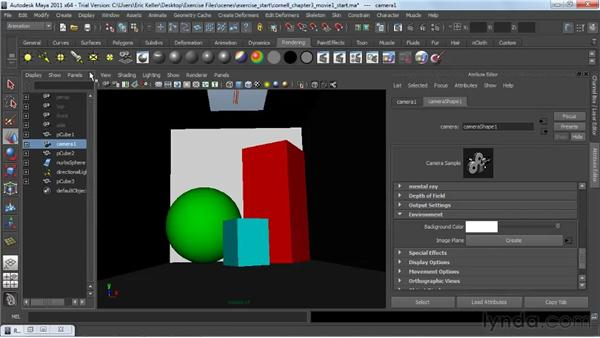 Setting global illumination for interiors: Lighting and Rendering with mental ray in Maya