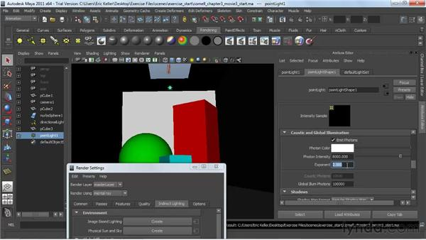Global illumination photons: Lighting and Rendering with mental ray in Maya
