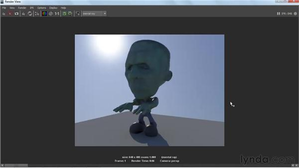 Tuning the Physical Sun and Sky settings: Lighting and Rendering with mental ray in Maya