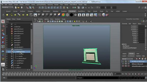 Creating render layers: Lighting and Rendering with mental ray in Maya