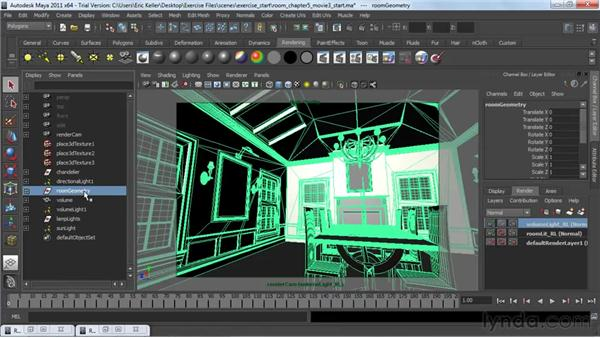 Splitting a scene into render layers: Lighting and Rendering with mental ray in Maya