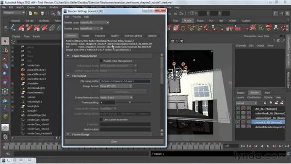 Organizing renders with tokens: Lighting and Rendering with mental ray in Maya