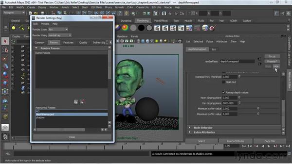 Editing render passes: Lighting and Rendering with mental ray in Maya
