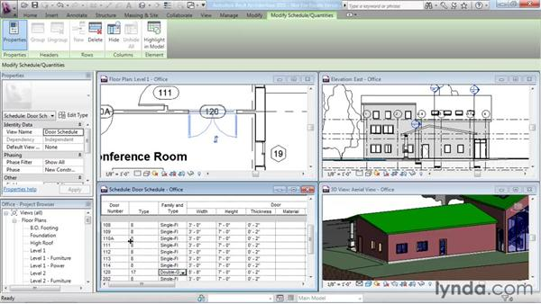 Working in one model with many views: Revit Architecture 2011 Essential Training