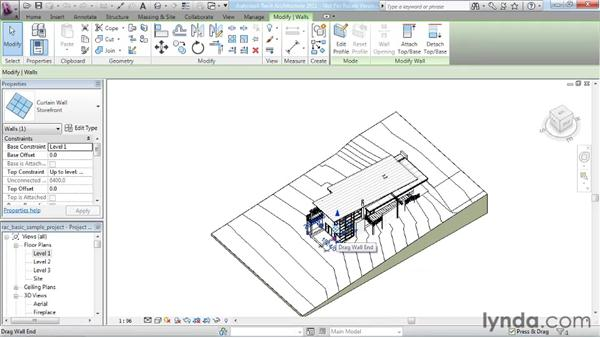 Understanding context ribbons: Revit Architecture 2011 Essential Training