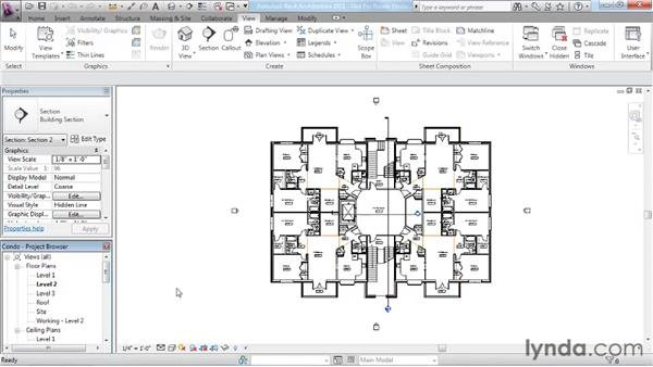 Using the Project Browser and navigating views: Revit Architecture 2011 Essential Training