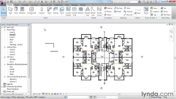 Using the Properties palette : Revit Architecture 2011 Essential Training