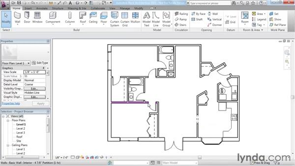Selection and modification basics: Revit Architecture 2011 Essential Training