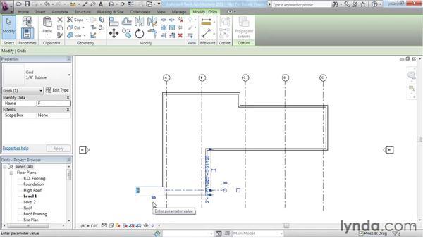 Adding grids: Revit Architecture 2011 Essential Training