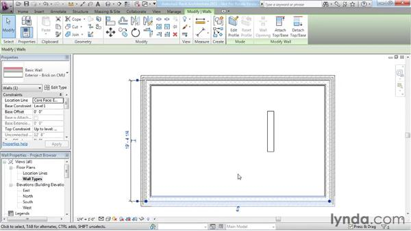 Understanding wall properties and wall types: Revit Architecture 2011 Essential Training