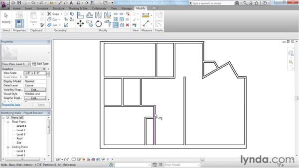 Using the modify tools: Revit Architecture 2011 Essential Training