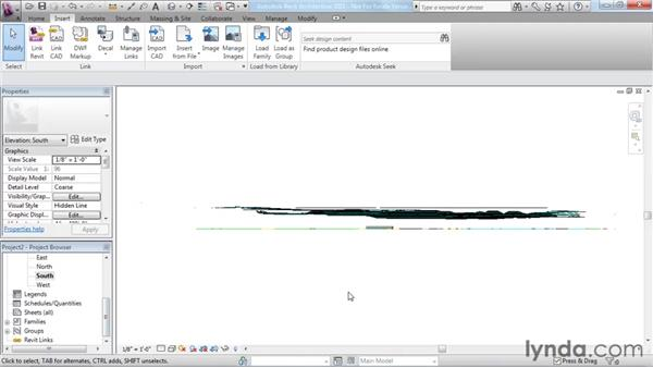 Creating topography from a DWG link: Revit Architecture 2011 Essential Training