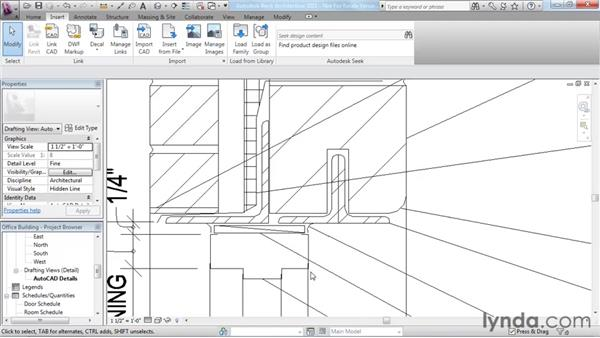 Understanding CAD inserts: Revit Architecture 2011 Essential Training