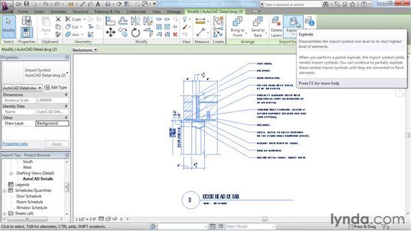 Using import tips: Revit Architecture 2011 Essential Training