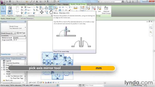 Creating a group: Revit Architecture 2011 Essential Training