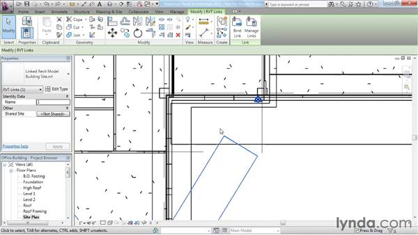 Working with Revit links: Revit Architecture 2011 Essential Training