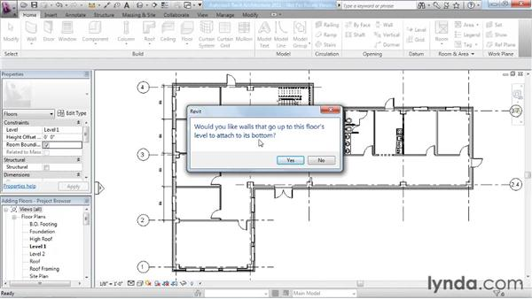 Working with floors: Revit Architecture 2011 Essential Training