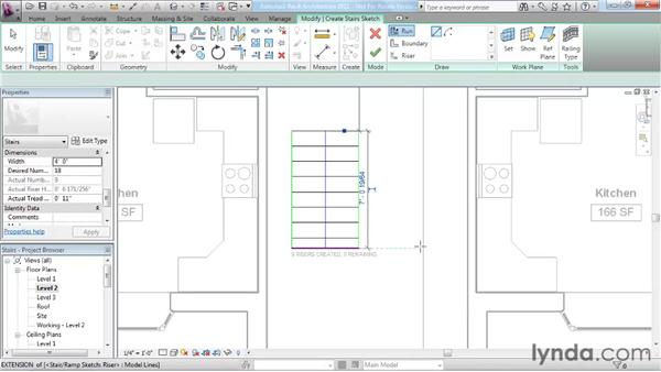 Working with stairs: Revit Architecture 2011 Essential Training
