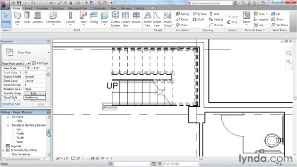 Working with railings: Revit Architecture 2011 Essential Training
