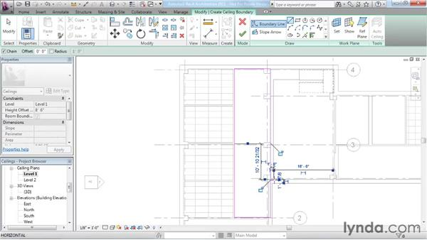 Working with ceilings: Revit Architecture 2011 Essential Training