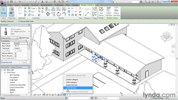 Using Hide/Isolate: Revit Architecture 2011 Essential Training
