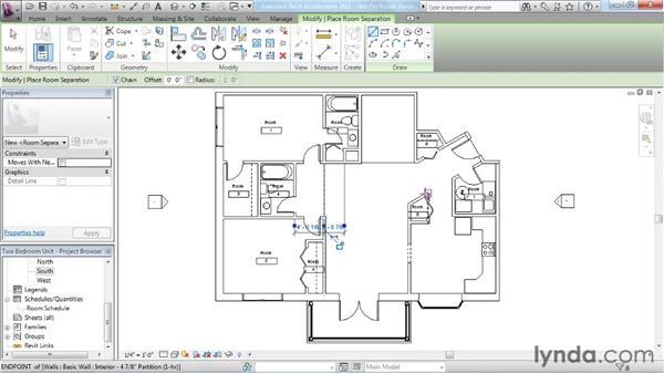Adding rooms: Revit Architecture 2011 Essential Training