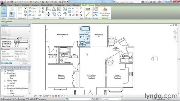 Understanding room bounding elements: Revit Architecture 2011 Essential Training