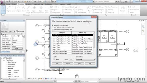 Understanding tags: Revit Architecture 2011 Essential Training