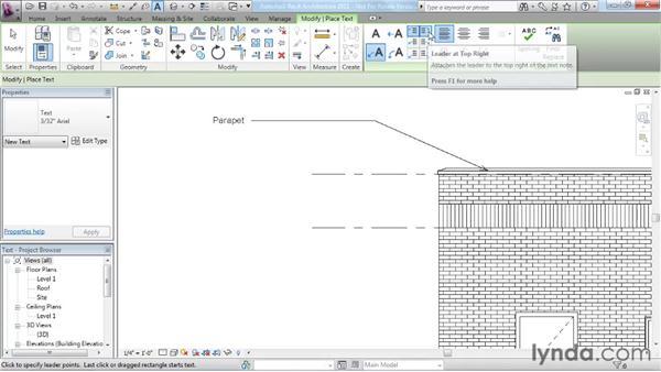 Adding text: Revit Architecture 2011 Essential Training