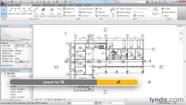 Adding symbols: Revit Architecture 2011 Essential Training