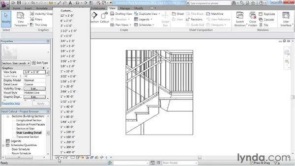 Creating a detail callout: Revit Architecture 2011 Essential Training