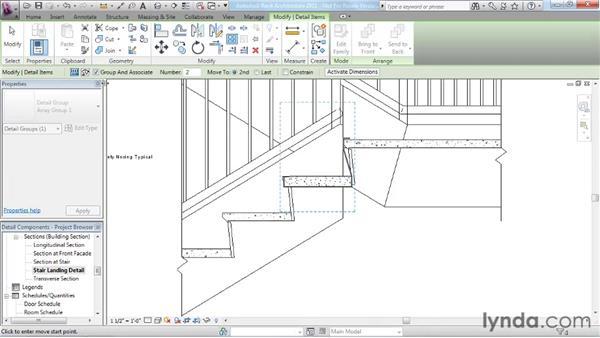 Using detail components: Revit Architecture 2011 Essential Training