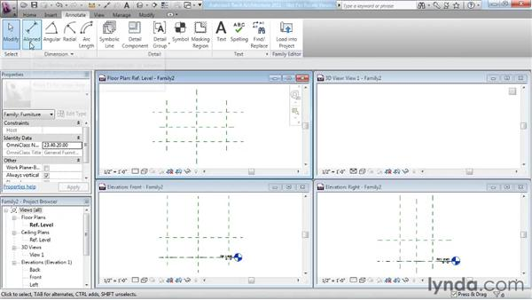 Using reference planes, parameters, and constraints: Revit Architecture 2011 Essential Training