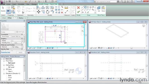 Adding solid geometry: Revit Architecture 2011 Essential Training