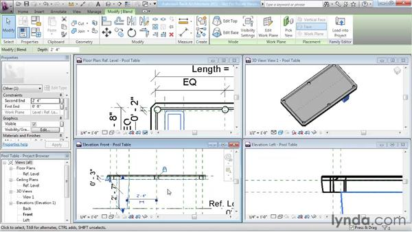 Completing the family: Revit Architecture 2011 Essential Training